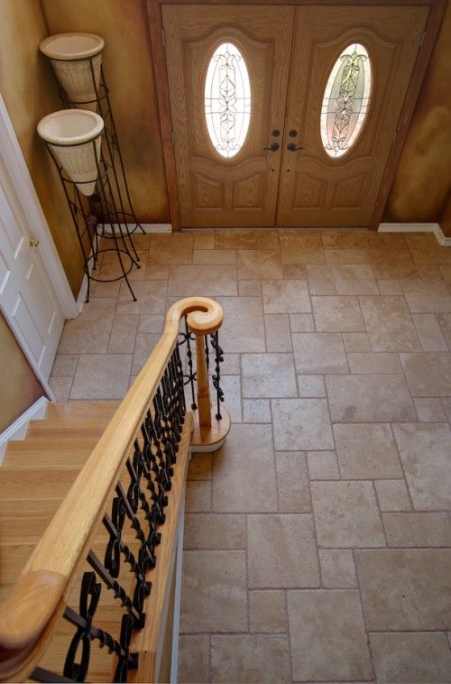 Entry way tile idea, love the pattern.