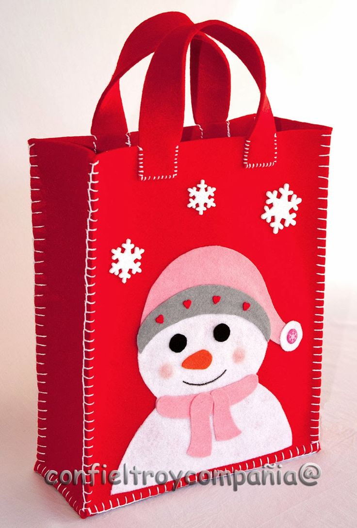 Resultado de imagen para bolsas de pan navideña