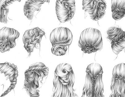 les 14 meilleures images du tableau hair sur pinterest dessiner les cheveux coiffures et idee. Black Bedroom Furniture Sets. Home Design Ideas