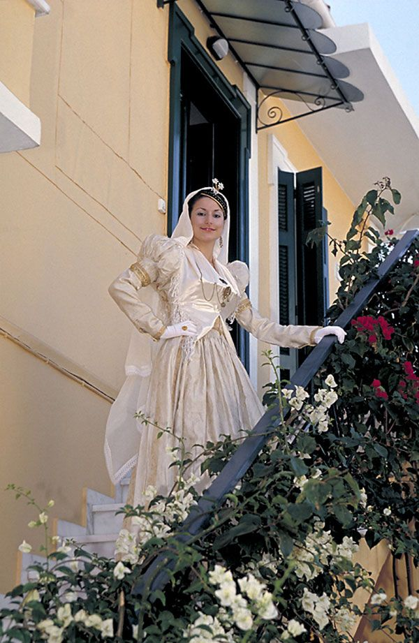Λευκαδα Lefkada island bridal costume