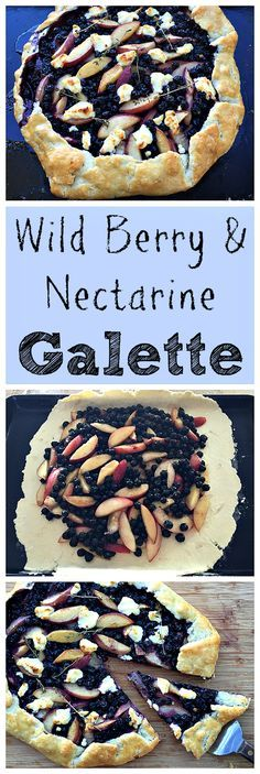 I used foraged Salal berries for this tasty and rustic galette!