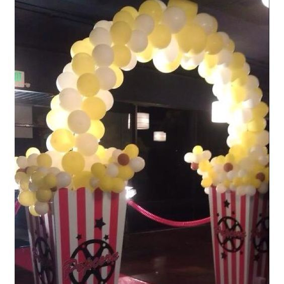 Pop Corn Balloon Entrance | 19 DIY Movie Night Ideas for Teens that will get the…