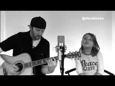 Father daughter duo Derek Cate with daughter Hailey Cate singing Monster by Eminem & Rihanna