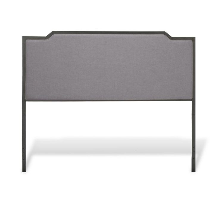 Bayview Black Pearl California King Headboard with Gray Dove Upholstery