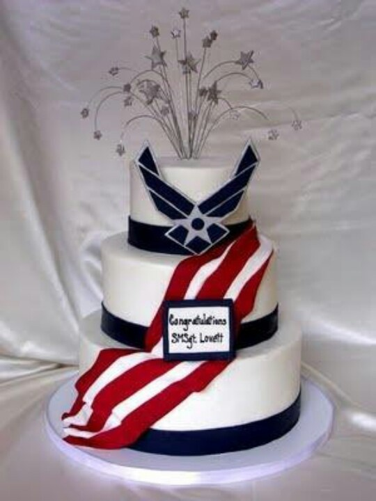Air Force cake! Would be perfect for ranking up or bmt graduation..