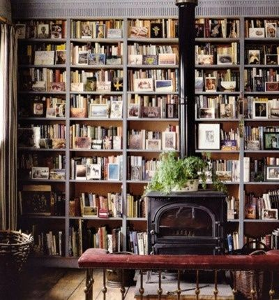 books and stove