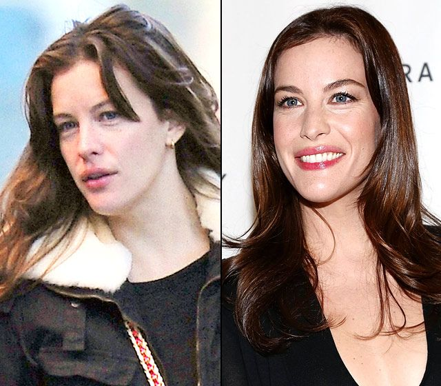 Stars Without Makeup: Liv Tyler-cute in both pics.