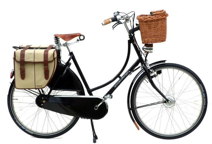Vélo électrique hollandais Amsterdamer - 1881 Exclusive, batterie à l'arrière.