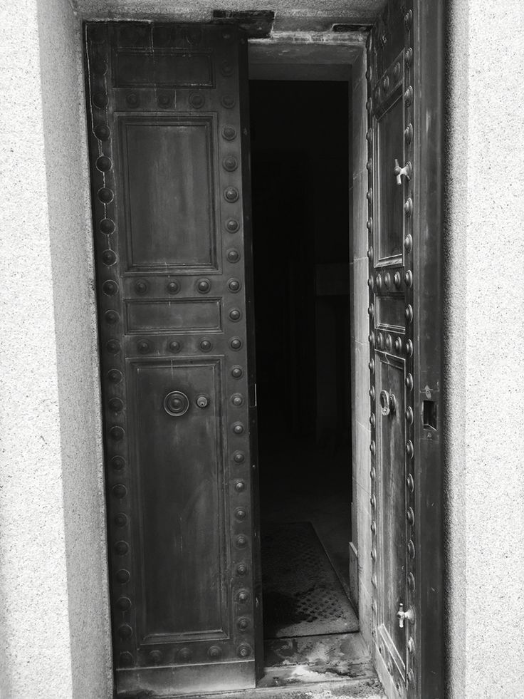 Double door entrance to American memorial at Romagne-sous-Montfaucon, France.