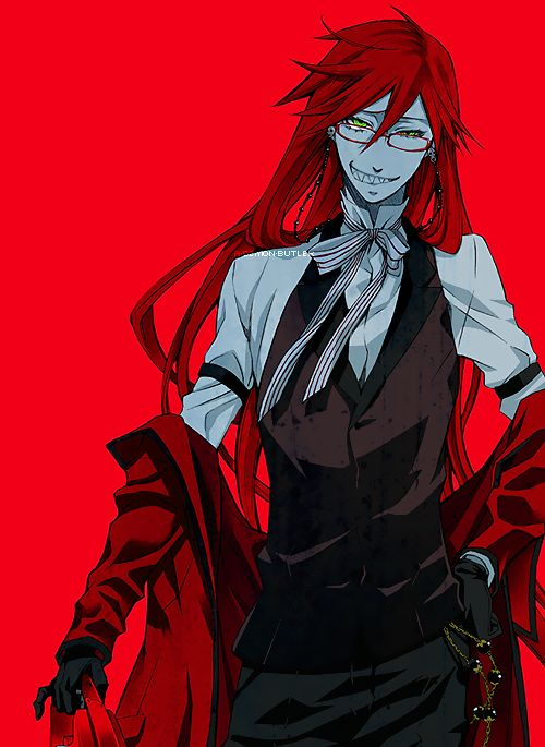 Grell Sutcliff - This reaper is an offense to me on so many different levels that it might almost be considered a skill. - Repulsive and antagonistic.
