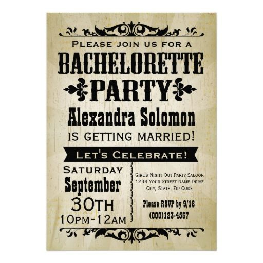 >>>Order          Vintage Country Bachelorette Party Invitation           Vintage Country Bachelorette Party Invitation you will get best price offer lowest prices or diccount couponeDiscount Deals          Vintage Country Bachelorette Party Invitation today easy to Shops & Purchase Online ...Cleck Hot Deals >>> http://www.zazzle.com/vintage_country_bachelorette_party_invitation-161365872011667018?rf=238627982471231924&zbar=1&tc=terrest