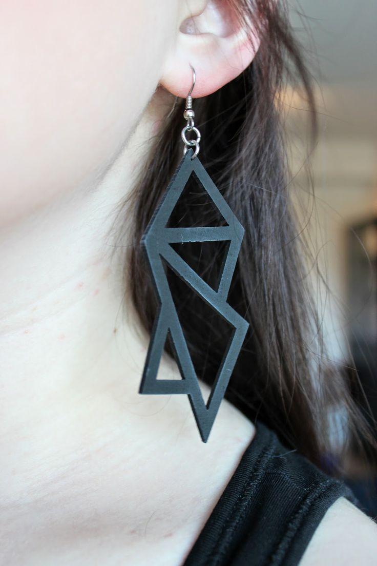 One of my favourite earrings - from Nouseva myrsky. http://sweetsweetthings.blogspot.fi/2014/05/graniittia.html