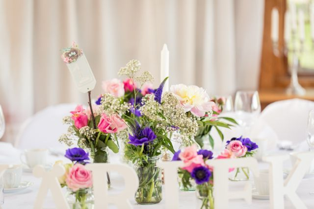 Table decoration and flowers #wedding #reception #flowers