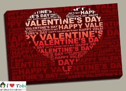 Tablou colaj Valentine's Day - cod B27