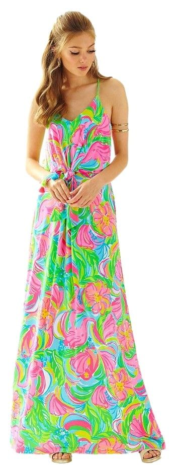 Multi So A Peeling Lilly Pulitzer Rosa Maxi Dress. Free shipping and guaranteed authenticity on Multi So A Peeling Lilly Pulitzer Rosa Maxi Dress at Tradesy. Lilly Pulitzer Maxi Dress.  New with Tags.  Poly &...