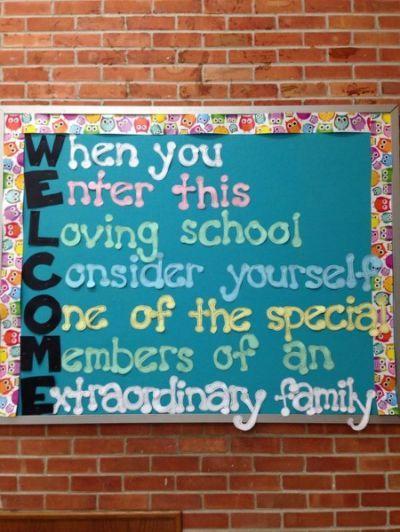 ... Cafeteria bulletin boards,