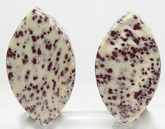 Dalmatian Spotted Jasper Maroon speckles on by FenderMinerals