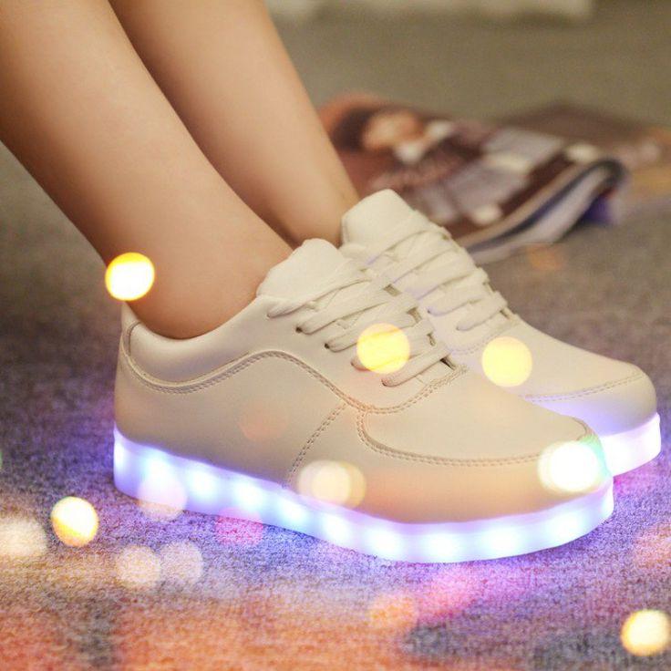 nice Светящиеся кроссовки для девочек (50 фото) — Модная обувь 2017