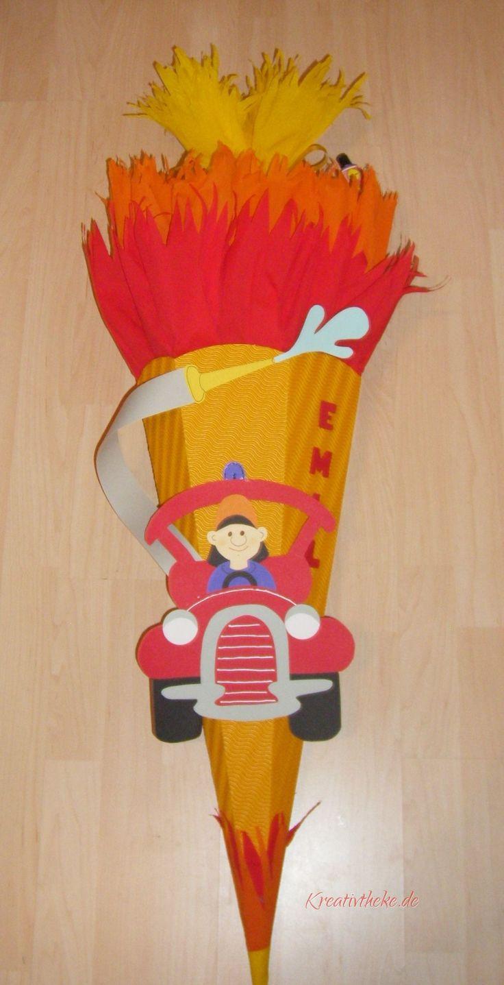Eine Feuerwehr Schultüte