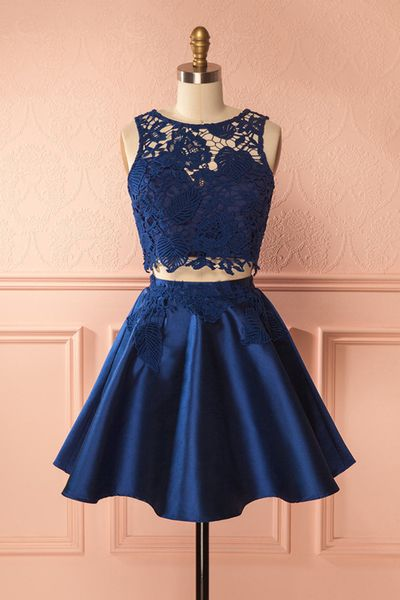 Cute Dark Blue Ball Dresses