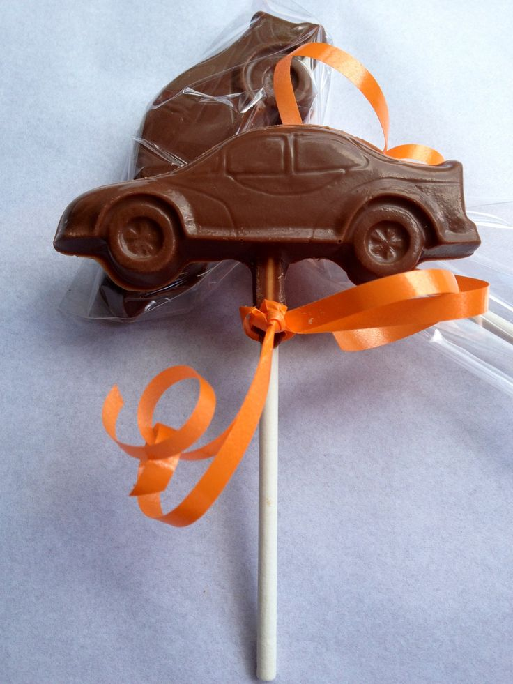 Belgian chocolate car party favours.