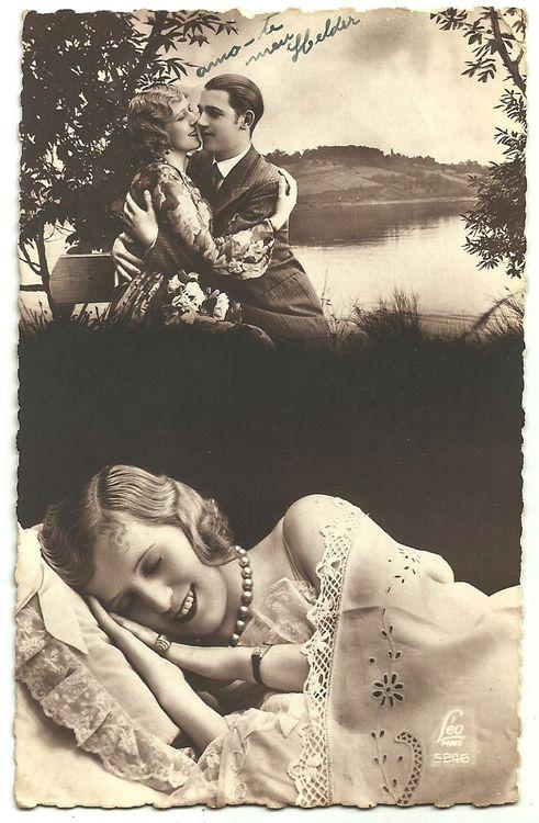 Dreaming of Romance, 1920s postcard