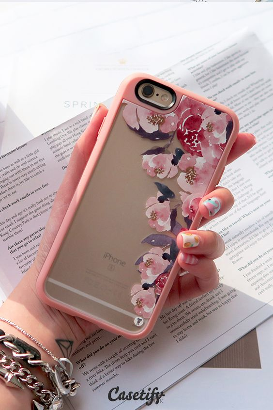 Pretty #pink flowers. Click through to see more floral iPhone 6 phonecase designs >>> https://www.casetify.com/artworks/PlUBdEgmHS | @casetify http://amzn.to/2qZ3RzU http://amzn.to/2s1QEt1