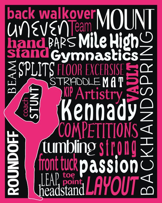 Digital Subway Personalized Gymnastics Art By MarcieMesserDesign 6 Gets The Download Then We Have To