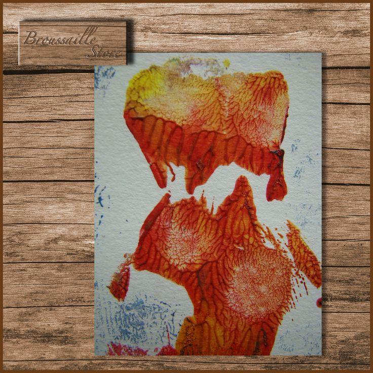 travail aux couleurs, style abstrait, imprimable jusqu'au format A4, pour cartes postales personnalisées, cartes de visite...etc.