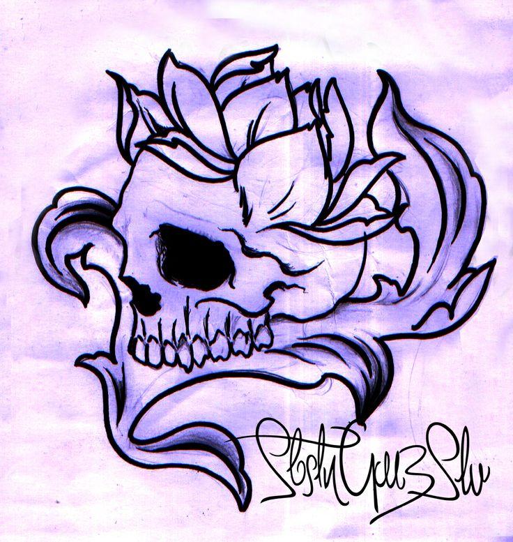 Flower-Skull