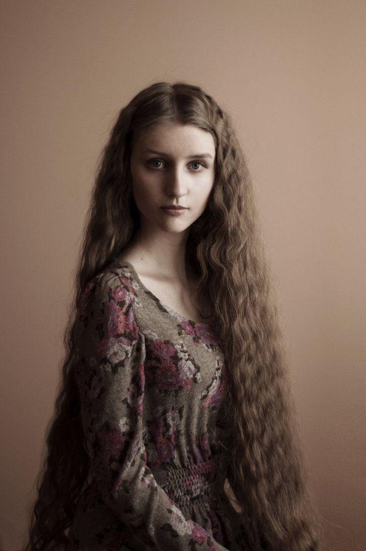 Pretty long hair.                                                                                                                                                                                 More