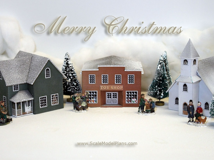 Free desktop wallpaper for Christmas  Buy printable Christmas Village model at: http://www.christmasvillage.co/