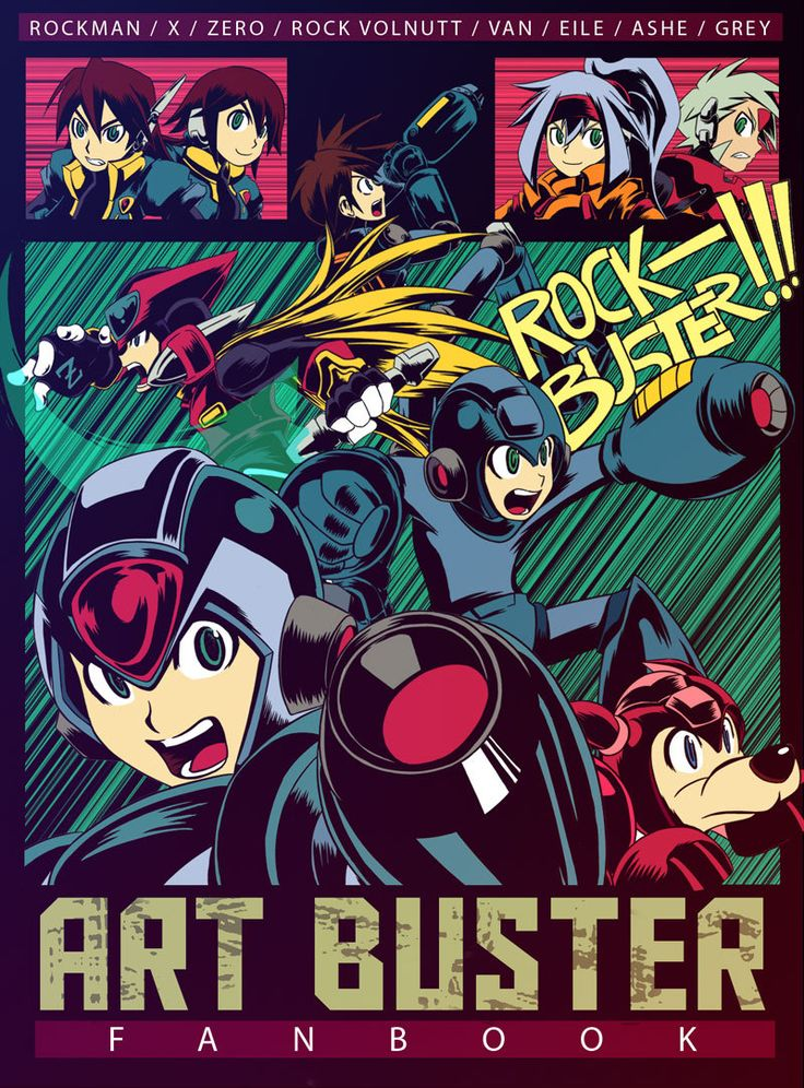"""fuckyeahmega-man: """" Incase you missed the post yesterday, this is the front cover to a tribute book called """"Art Buster Fanbook"""", which is free to download here. """""""