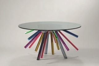 Table: Collection Unveiled, Sunburst Tables, Design Week, Interiors Design, Coff Tables, Colors Splash, Versace Design, Chairs Design, Milan Design