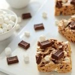 Golden Grahams S'mores | My Baking Addiction... Fewer ingredients than Betty Crocker version, and it has Hershey bars!