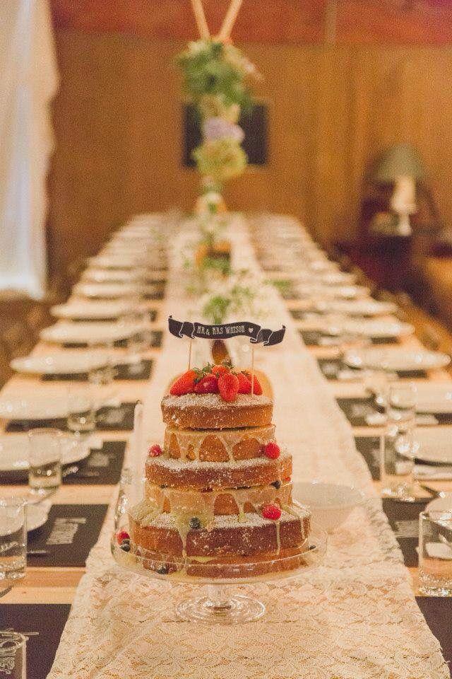 Where it all began my very own wedding cake - White chocolate mudcake with white chocolate ganache and fresh berries!