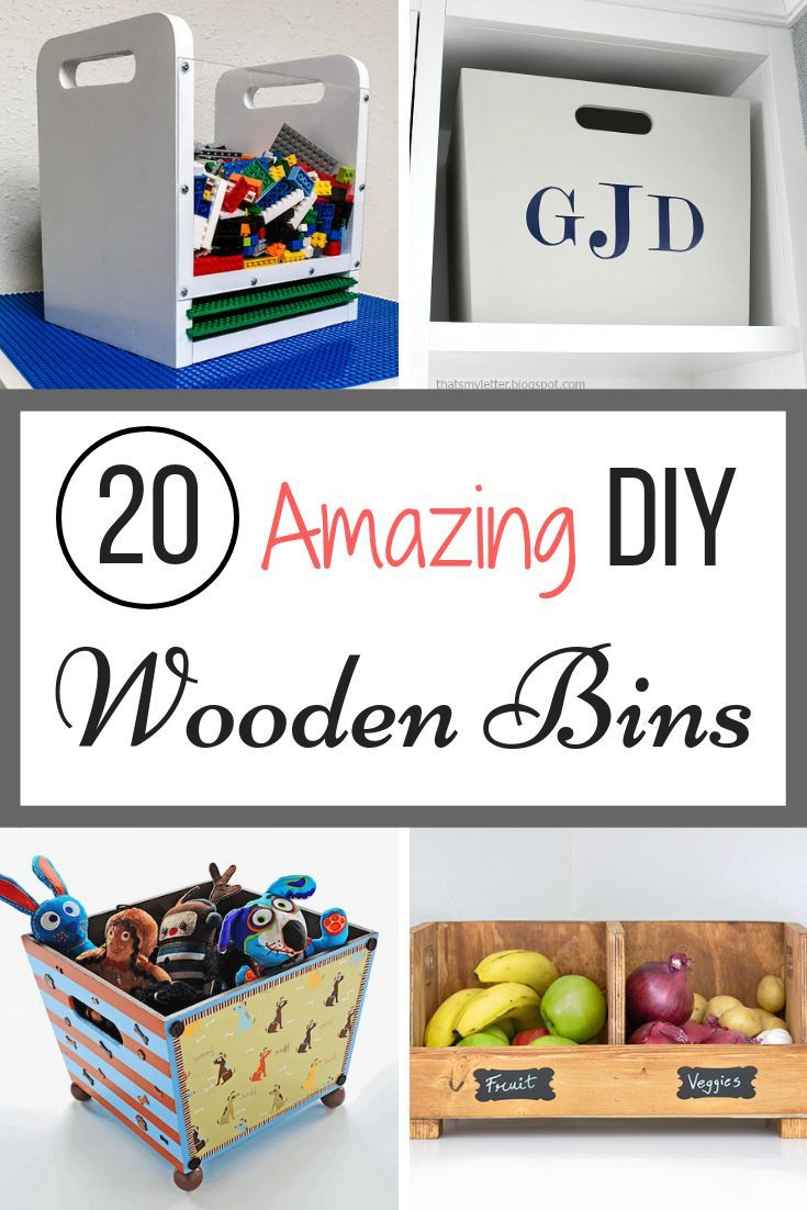 DIY Woodworking Ideas Looking for the perfect wooden bin or box? Customize your storage with these 20 ...