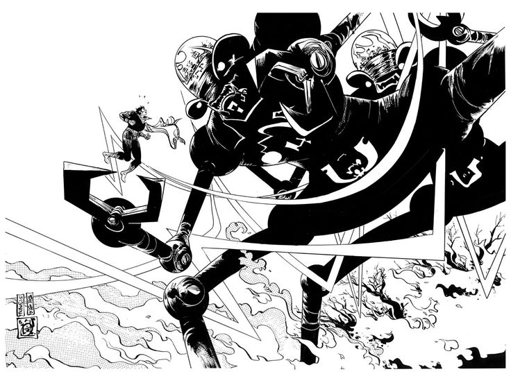 fantastic work from comic book artist, Paul Pope    http://pulphope.blogspot.com.br/
