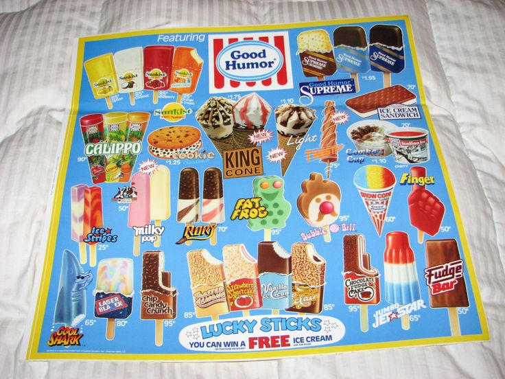 VINTAGE GOOD HUMOR ICE CREAM MENU: SUPER RARE! EX/EX+ CONDITION. NEVER SEEN. #GOODHUMORICECREAMINC