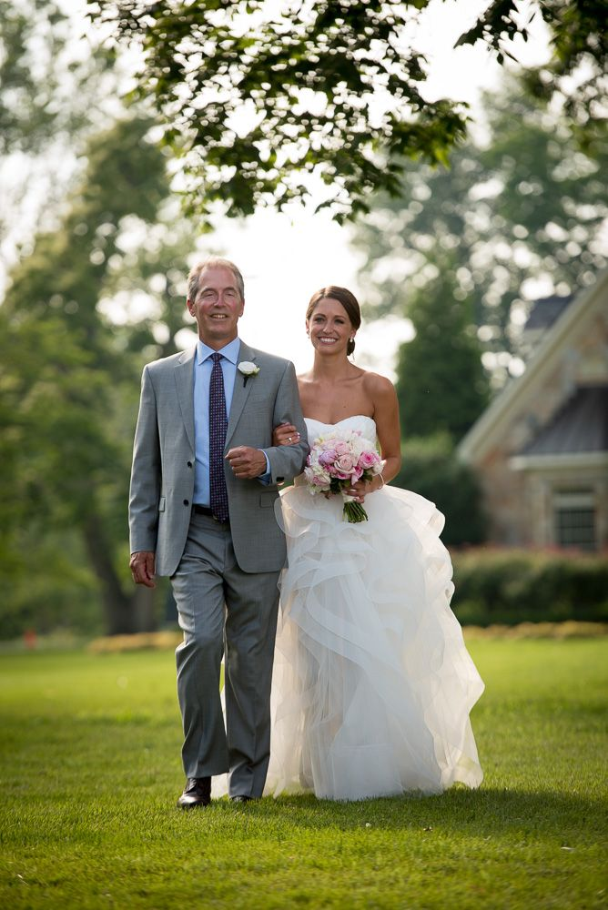 Haley and her father making their way down the aisle! Haley and Danny's wedding held on a private estate.