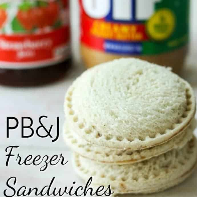 These DIY Uncrustable Freezer Sandwiches are a huge time saver in the morning! Peanut Butter and Jelly Freezer Sandwiches are the perfect lunchbox solution.