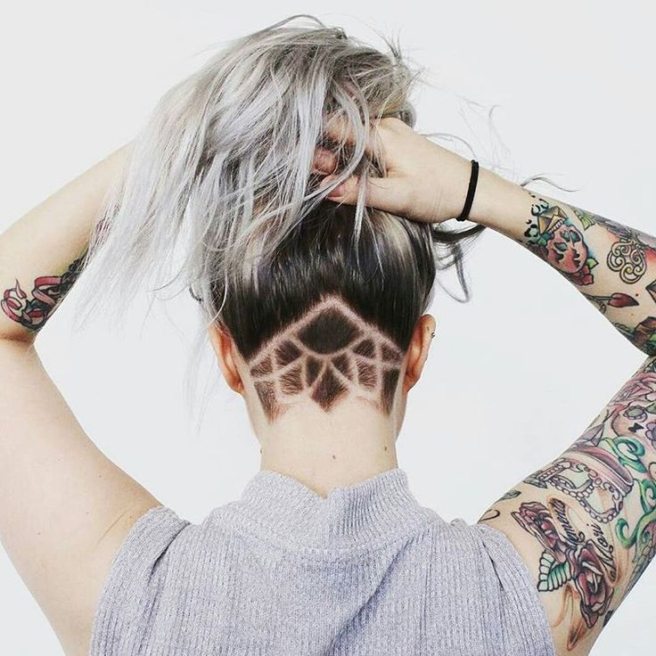 30 Lovely Nape Tattoos For Girls: 1000+ Ideas About Undercut Designs On Pinterest