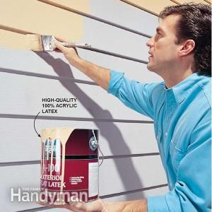 Faded or stained aluminum siding can be painted. The key to getting a good finish is to get it really clean and to use 100-percent acrylic latex paint.