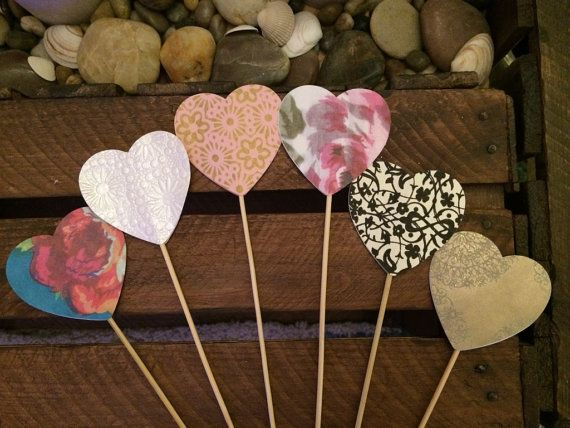 x100 Heart Lollipops  hearts on a stick by ShowstopperEvents