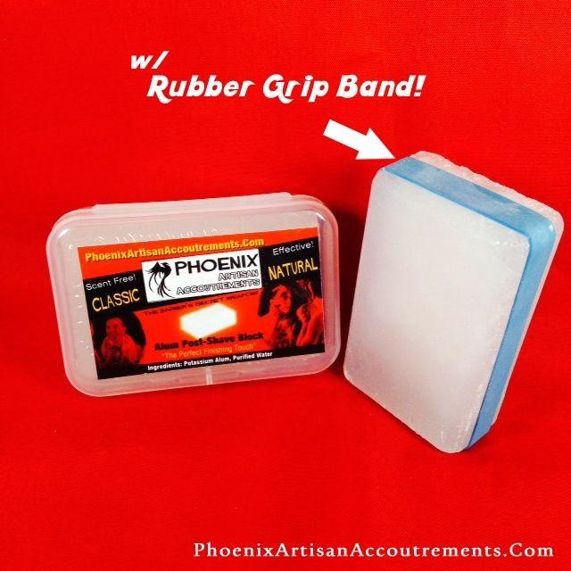 Alum - PAA Potassium Alum Block 97 Grams (W/ Rubber Grip Band & Recyclable…