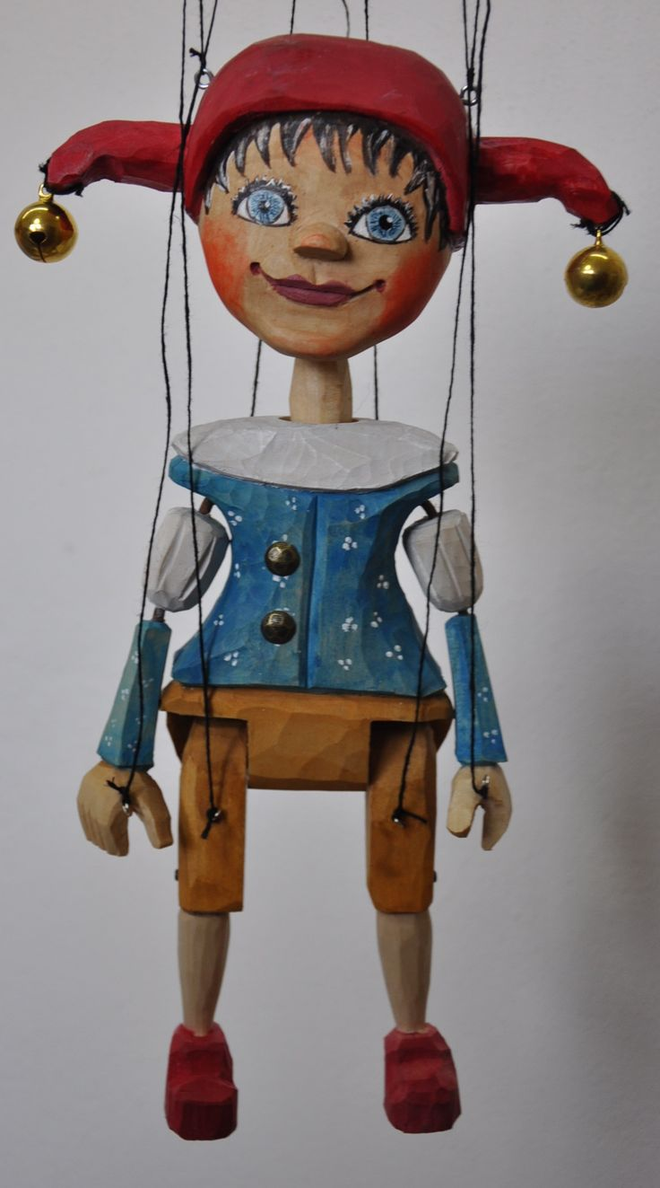puppet jester, marionette, wood carving  was born 2017