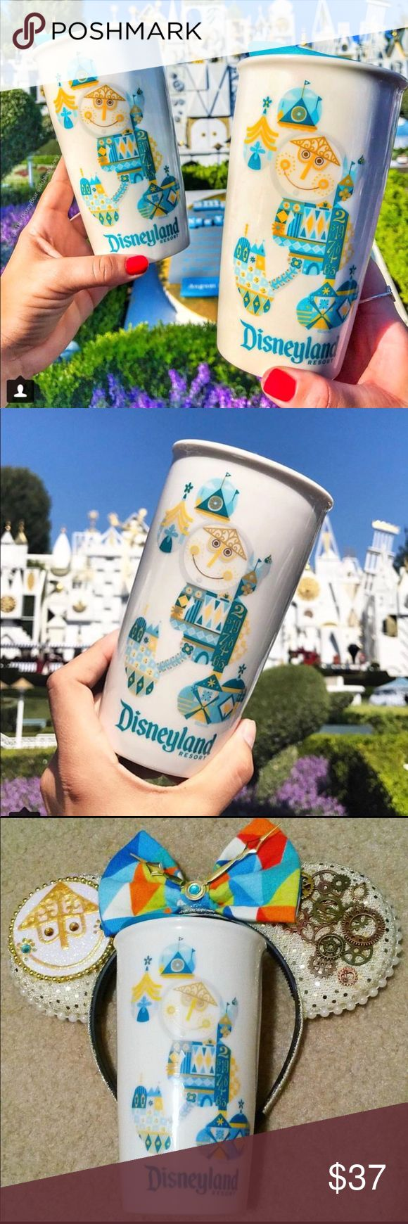 "New STARBUCKS DISNEYLAND ""IT'S A SMALL WORLD"" MUG ( NEW ""JUST RELEASED SEPTEMBER (2017) FOR ""DISNEYLAND ONLY"" )  New STARBUCKS DISNEYLAND (2017) ""IT'S A SMALL WORLD"" DOUBLE-WALLED CERAMIC TUMBLER MUG  THESE ARE ONLY AVAILABLE AT THE ""STARBUCKS COFFEE LOCATION"" INSIDE THE ""DISNEYLAND RESORT PARK"" MAKING THEM VERY EXCLUSIVE !!    THESE SAME BEAUTIFUL MUGS HAVE BEEN SELLING ON MANY ""ONLINE SELLING SITES"" LIKE : ( EBAY - AMAZON - ETSY ) AT VERY HIGH PRICES STARTING AT : ( $49.95 - $55.00…"