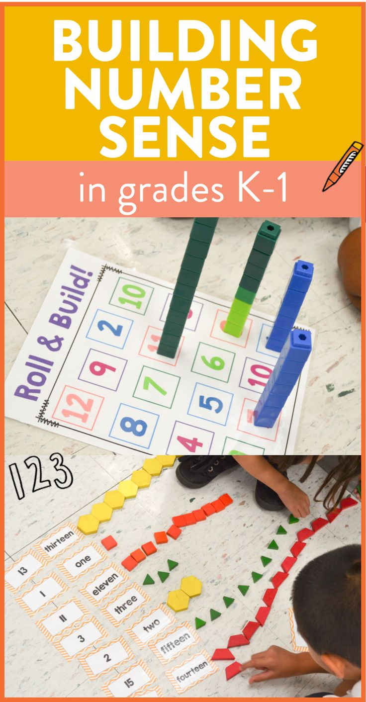 Tons of hands on number sense activities and ideas for kindergarten and first grade!