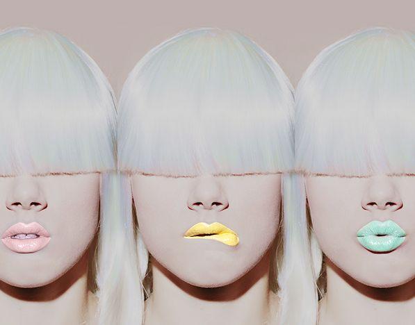 lips: Makeup, Lip Colors, Bangs, Limes Crime Lipsticks, Pastel Lips, Lime Crime Lipstick, Hair, Lips Colors, Neon Lips