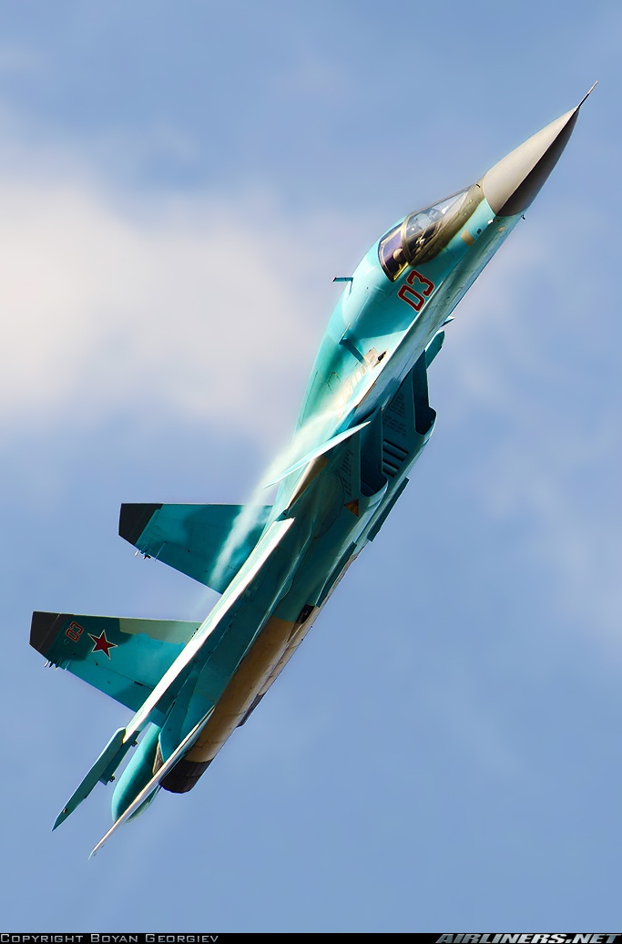 SU-34 — this is a great shot of this beautiful deadly, flying, killing machine.